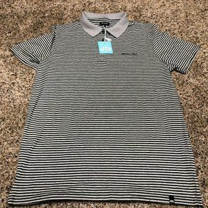 Animal Polo Shirt Mens New With Tags Striped Gray